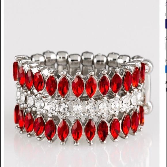 K29 Ring > red > white > rhinestone